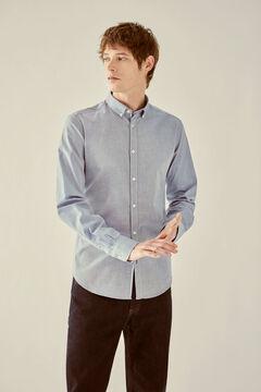 Springfield Pinpoint shirt bluish