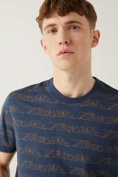 Springfield Ethnic AOP t-shirt navy mix