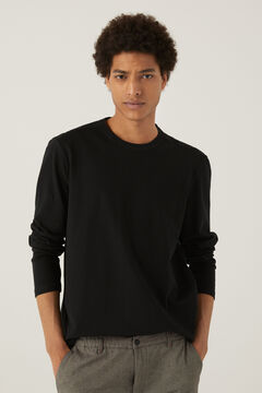 Springfield Camiseta manga larga cuello panadero negro