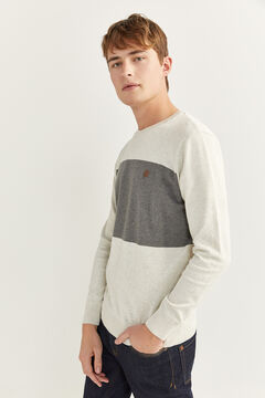 Springfield COLOUR BLOCK JUMPER light gray