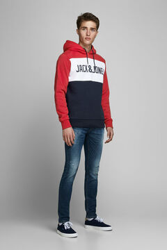 Springfield Sustainable block colour sweatshirt brick