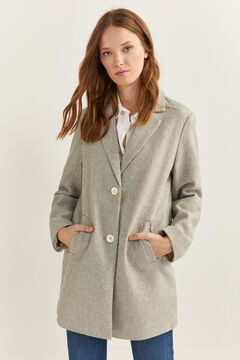 Springfield Essential Buttons Coat gray