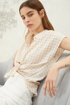 Springfield Gingham blouse brown