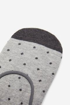 Springfield Calcetín invisible Topitos gris