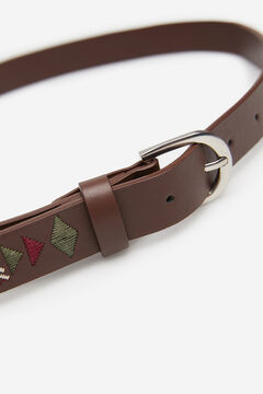 Springfield Embroidered Belt brown