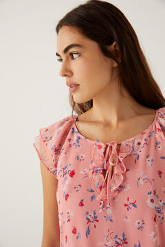 Springfield Printed voluminous dress pink