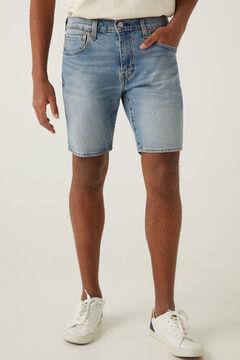 Springfield Calções jeans 412 de corte slim azul