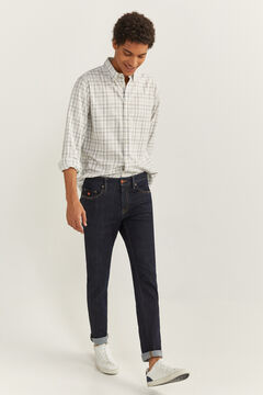 Springfield CHECKED SHIRT white