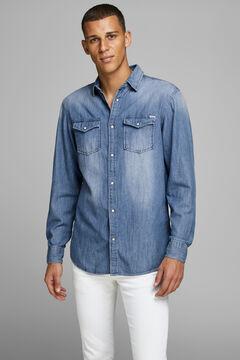 Springfield Cotton denim shirt  bluish
