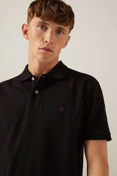 Springfield Essential piqué polo shirt black