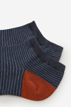Springfield Striped ankle socks blue