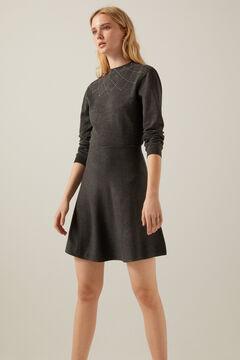 Springfield Jersey-knit skater dress  grey