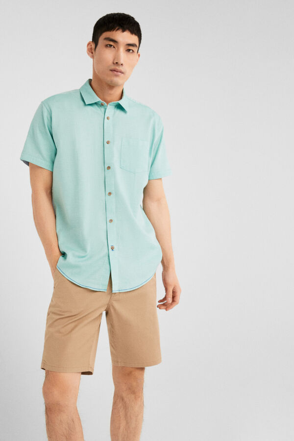 486ee5d314 Springfield Camisa estructura verde agua