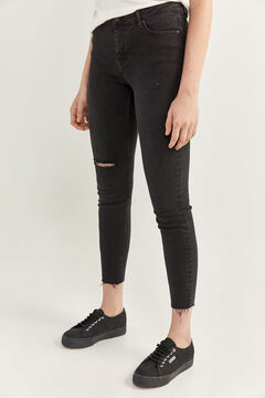 Springfield Slim denim trousers black