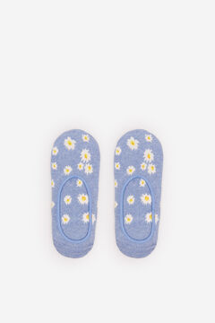 Springfield Floral invisible socks steel blue