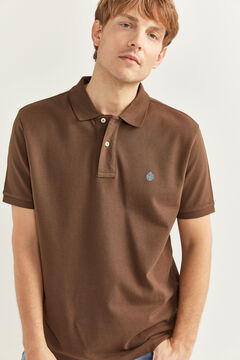 Springfield ESSENTIAL PIQUE POLO SHIRT brown