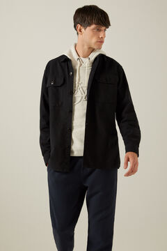 Springfield Oxford overshirt black
