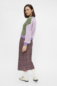 Springfield Cardigan color block roxo