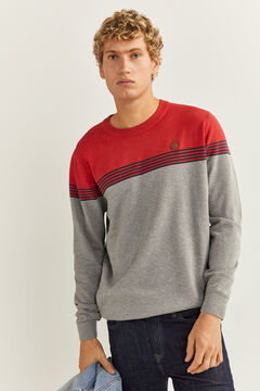 Springfield Essential colour block jumper rust