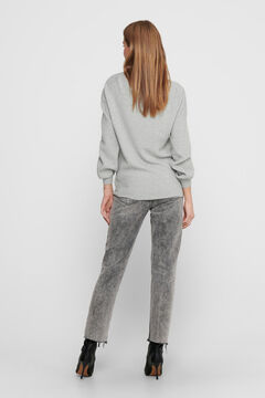 Springfield Balloon sleeve knit jumper gray