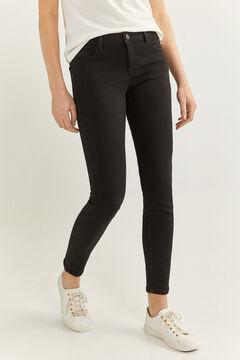 Springfield Jeans slim algodão reciclado lavagem sustentável preto