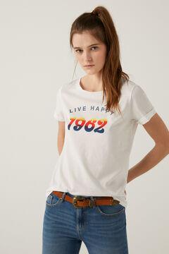 "Springfield ""Live Happy"" t-shirt white"