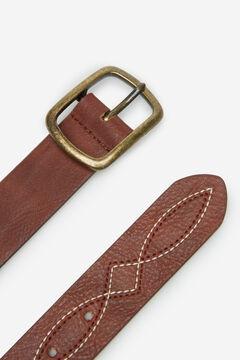 Springfield Cinturón pespuntes marrón