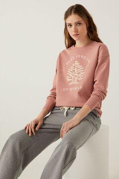 Springfield Sudadera árbol Springfield algodón orgánico rosa