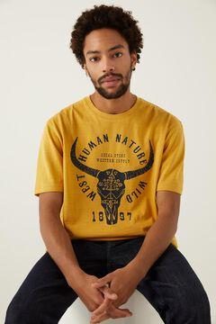 Springfield T-shirt caveira camelo