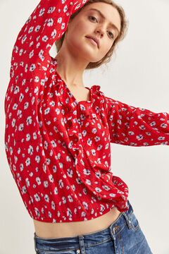 Springfield Flounced collar blouse red