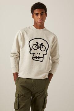 Springfield Sweat-shirt tête de mort gris