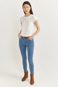 Springfield Jeans Slim Cropped azul
