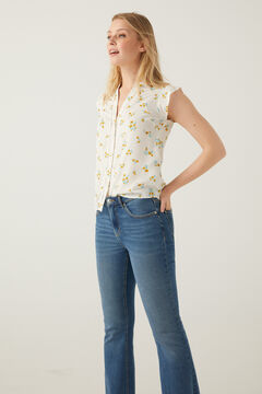 Springfield Combined ditsy floral blouse grey