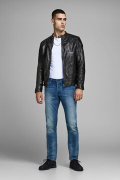 Springfield Leather biker jacket noir