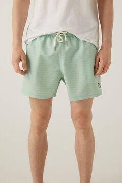 Springfield Printed swim shorts yellow