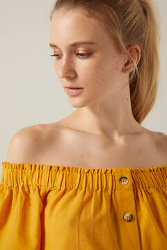 Springfield Swiss embroidery off-the-shoulder blouse color