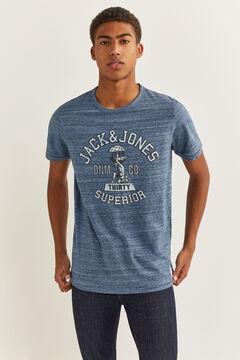 Springfield Jack & Jones logo t-shirt bluish