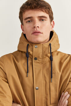 Springfield SHORT HOODED PARKA beige