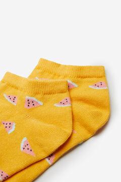 Springfield Calcetín sandías amarillo