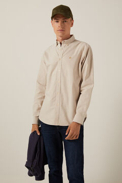 Springfield Coloured Oxford shirt brown