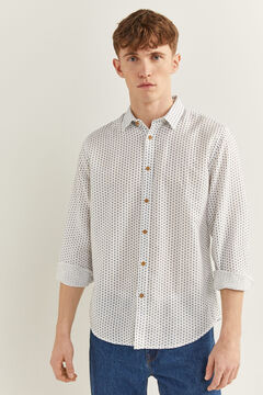 Springfield Printed shirt natural