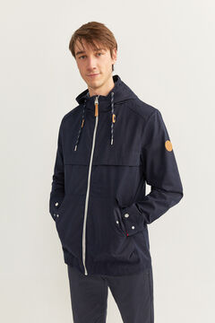 Springfield Water-repellent hooded parka navy