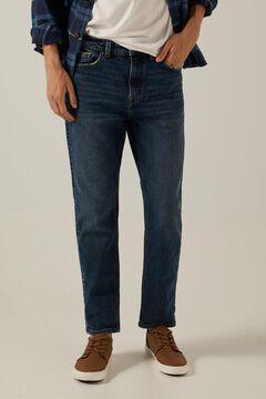 Springfield Slim fit comfort knit jeans in medium-dark dirty wash violet