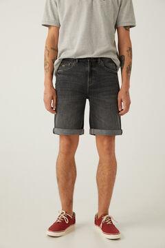 Springfield Grey dark wash denim Bermuda shorts light gray