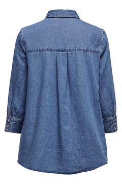 Springfield Flounced denim shirt blue mix
