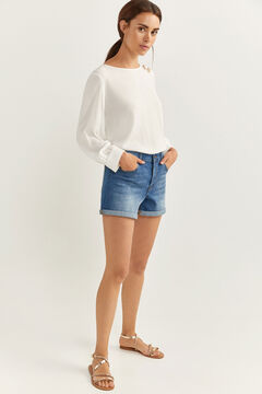 Springfield Essential denim shorts blue