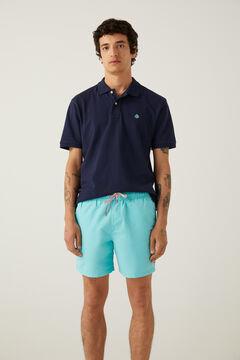 Springfield Plain colour swimming shorts green