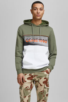 Springfield Colour block sweatshirt green