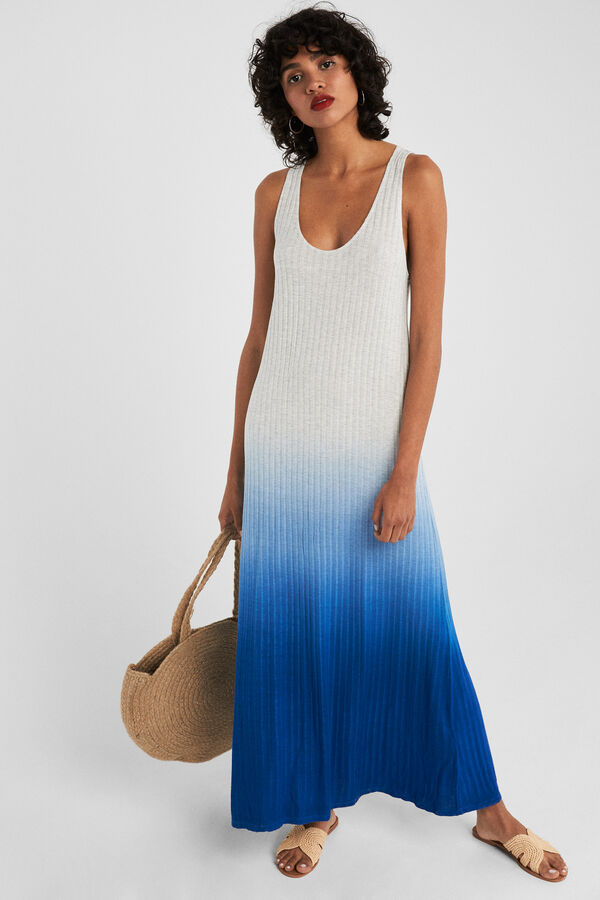 c36cbd1e88 Springfield Vestido largo tie dye natural. Comprar