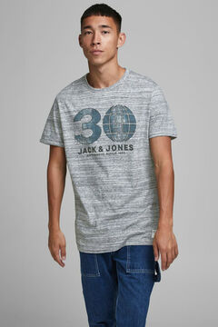 Springfield Jack & Jones logo t-shirt gray